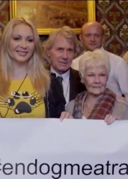With Dame Judi Dench in Parliament 2015
